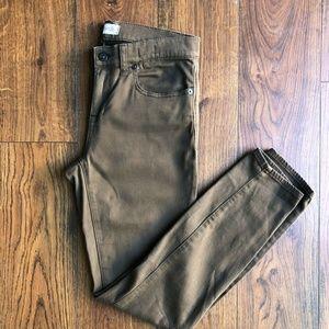 Madewell Skinny Skinny Green Stretch Jeans Jegging